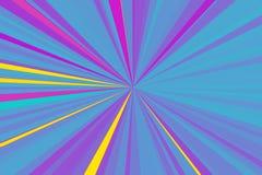 抽象全息照相的氖发出光线背景 五颜六色的条纹射线样式 时髦的例证现代趋向颜色 免版税库存照片
