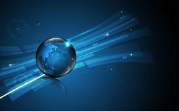 抽象全球性技术创新概念运动样式设计背景 免版税库存照片