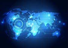 抽象全球性技术概念背景,传染媒介例证 库存例证