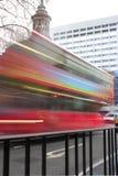 抽象公共汽车伦敦红色 库存图片