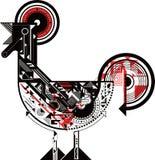 抽象公鸡 免版税图库摄影