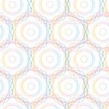抽象六角形几何圈子无缝的样式, 库存图片