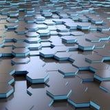 抽象六角形的栅格背景 向量例证