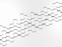 抽象六角形背景 免版税库存图片
