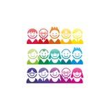 抽象具体化面孔画象象集合的五颜六色的光谱收藏 库存图片