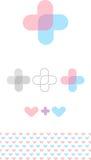 抽象军医标志 医疗保健商标 异常的十字架 向量例证