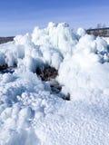 抽象冬天冰和雪结冰的图  免版税库存图片