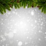 抽象冬天和Xmas背景 图库摄影