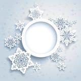 抽象冬天设计 库存照片