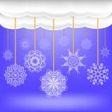 抽象冬天雪背景 免版税库存图片