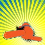抽象减速火箭的五颜六色的背景 库存图片