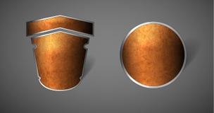抽象减速火箭的徽章 免版税库存图片