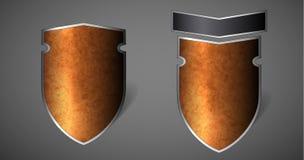 抽象减速火箭的徽章 免版税库存照片