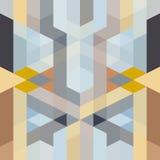 抽象减速火箭的艺术装饰几何样式 免版税库存图片