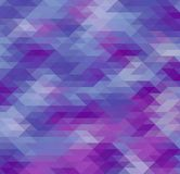 抽象几何三角例证,蓝色和紫色低多背景 库存例证