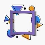 抽象几何五颜六色的背景横幅 皇族释放例证