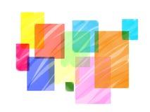 抽象几何五颜六色的背景 办公室文具的最低纲领派背景 企业盖子或横幅模板 库存照片
