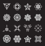 抽象几何元素,仿造种族阿兹台克人或玛雅人传染媒介 库存照片