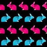抽象几何兔子无缝的样式背景 免版税库存照片