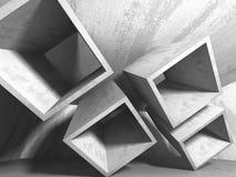 抽象几何具体建筑学背景 免版税库存照片