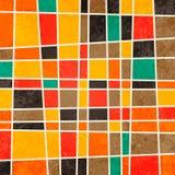 抽象几何减速火箭的五颜六色的背景 免版税库存照片