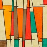 抽象几何减速火箭的五颜六色的背景 免版税库存图片