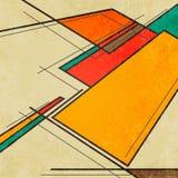 抽象几何减速火箭的五颜六色的背景 库存照片