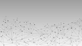 抽象几何分子和通信背景 免版税库存照片