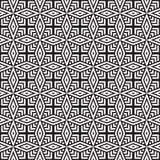 抽象几何双强加了在黑n白色的设计无缝的背景样式例证 向量例证