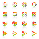 抽象几何图标徽标模板向量 免版税库存图片