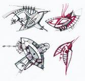 抽象几何图画 图库摄影
