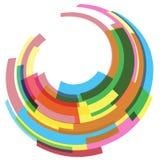 抽象几何圆的五颜六色的背景 免版税库存照片