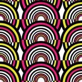 抽象几何圈子无缝的样式 也corel凹道例证向量 库存照片