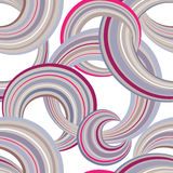 抽象几何圈子无缝的样式 泡影装饰物背景 库存照片