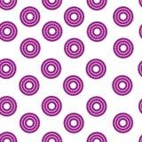 抽象几何圈子无缝的样式 库存图片