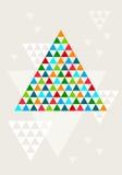 抽象几何圣诞树,传染媒介 免版税库存图片
