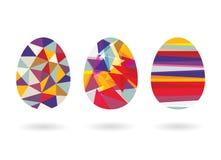 抽象几何复活节彩蛋 库存照片