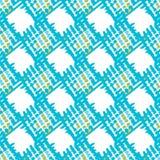 抽象几何多斑点的方形的无缝的样式 库存照片