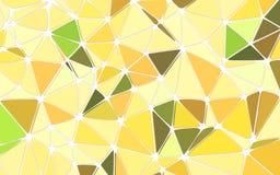 抽象几何多角形黄色背景 免版税库存照片