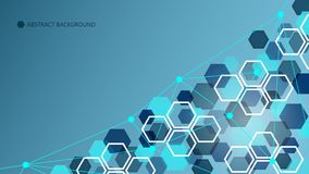 抽象几何技术背景,传染媒介例证 免版税库存图片
