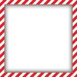 抽象几何方形的框架,与对角红色和白色 也corel凹道例证向量 免版税库存照片