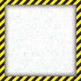 抽象几何方形的框架,与对角黑和黄色 也corel凹道例证向量 图库摄影