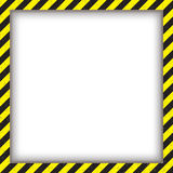 抽象几何方形的框架,与对角黑和黄色 也corel凹道例证向量 免版税库存照片