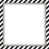抽象几何方形的框架,与对角黑白 也corel凹道例证向量 图库摄影