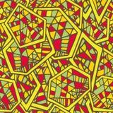 抽象几何无缝的传染媒介样式 免版税库存照片