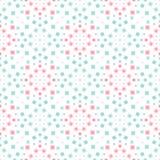 抽象几何无缝的传染媒介样式 向量例证