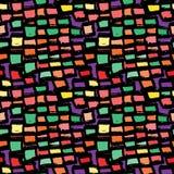 抽象几何无缝的手拉的样式 grunge现代纹理 五颜六色的背景 免版税库存照片
