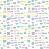 抽象几何无缝的手拉的样式 grunge现代纹理 五颜六色的背景 免版税图库摄影