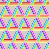 抽象几何无缝的样式三角 向量例证