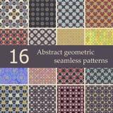 抽象几何无缝的样式的汇集 免版税库存图片